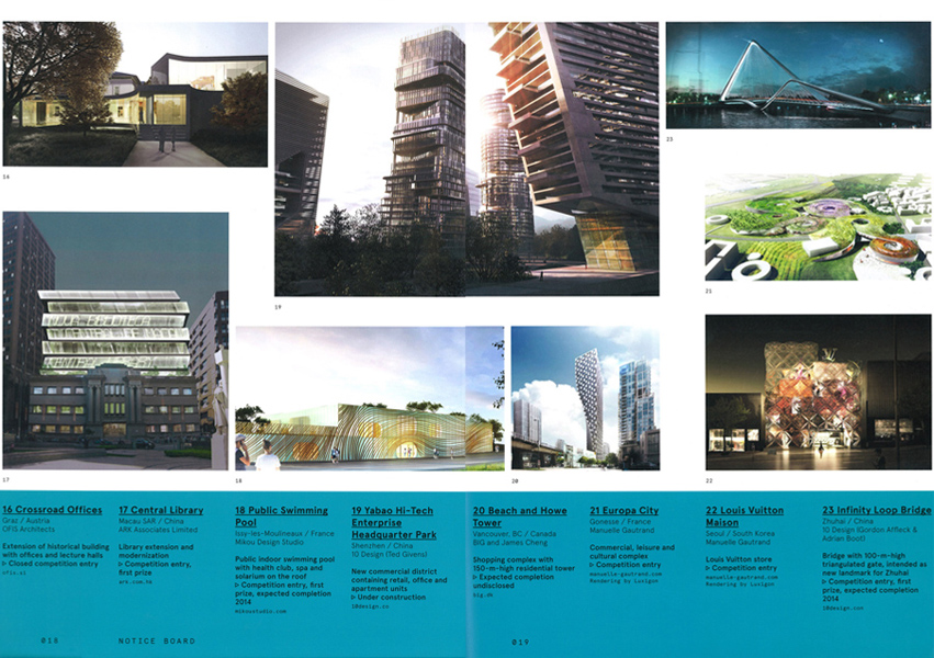 "MARK, ""Shenzhen Baoneng Super High-Rise"" & ""Macau Central Library"" featured in Notice Board"